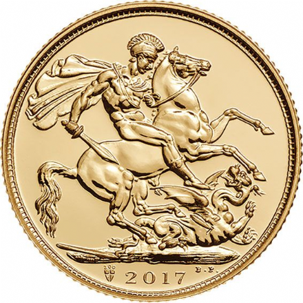 2017 Bullion Gold Sovereign (200 year Mintmark)